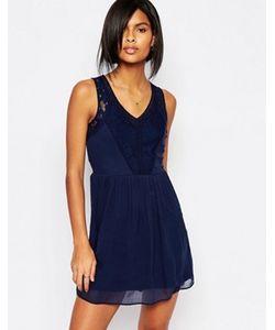 Vero Moda | Кружевное Короткое Приталенное Платье