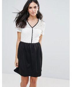 Vero Moda | Платье 2-В-1 С Контрастной Отделкой