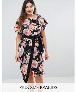 Closet Plus | Платье-Кимоно С Запахом И Цветочным Принтом