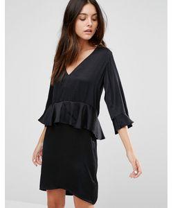 Minimum | Цельнокройное Платье С Рукавом 3/4 И Оборками