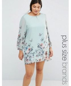 Yumi Plus   Цельнокройное Платье С Принтом Бабочек