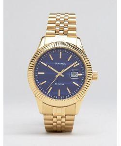 Sekonda | Золотистые Наручные Часы С Синим Циферблатом Эксклюзивно Для