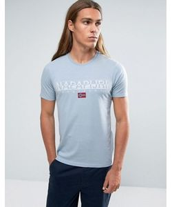 Napapijri | Голубая Футболка С Логотипом Sapriol