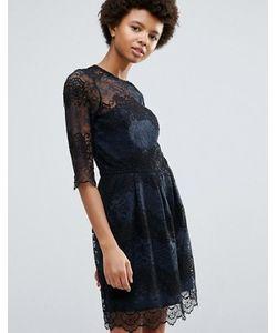 Ganni   Кружевное Платье Колор Блок Parker