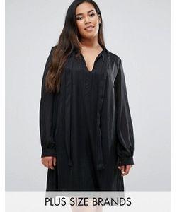 Goddiva plus | Цельнокройное Платье С Завязкой На Горловине