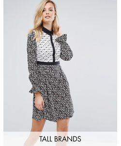 Influence Tall | Платье-Рубашка С Комбинируемым Принтом