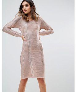 WOW Couture   Ажурное Платье Миди