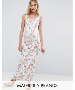 Mama Licious | Трикотажное Платье Макси Без Рукавов С Цветочным Принтом
