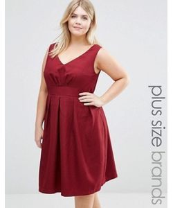 Koko | Фактурное Короткое Приталенное Платье С Vобразным Вырезом Plus