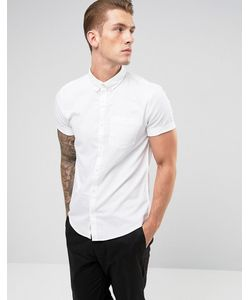 River Island   Оксфордская Рубашка С Короткими Рукавами