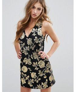 MISSGUIDED | Цельнокройное Платье Мини С Цветочным Узором