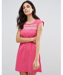 Jasmine | Короткое Приталенное Платье С Кружевной Отделкой