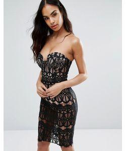 Rare | Платье-Футляр Из Прозрачного Кружева С Лифом На Косточках London
