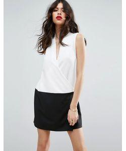 Asos | Цельнокройное Платье Колор Блок