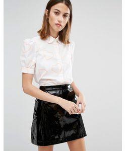 Love Moschino | Розовая Рубашка С Принтом Сердец