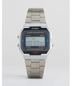 Casio | Серебристые Цифровые Наручные Часы A163wa-1qes