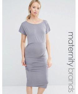 Isabella Oliver | Облегающее Платье Со Сборками И Короткими Рукавами