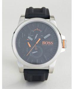 BOSS Orange | Часы С Черным Резиновым Ремешком By Hugo Boss Detroit
