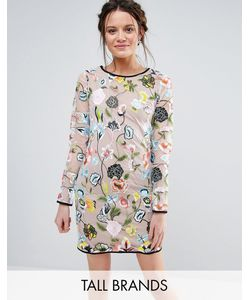 True Decadence Tall | Платье С Длинными Рукавами И Вышивкой