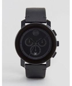 Movado | Черные Часы С Кожаным Ремешком И Хронографом Bold 3600337