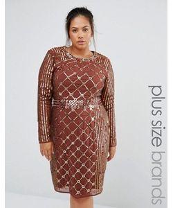 Lovedrobe Luxe | Цельнокройное Платье С Длинными Рукавами