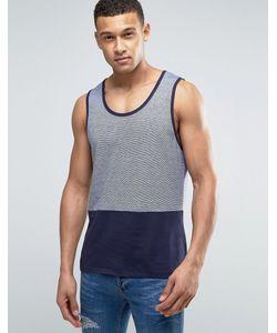Threadbare   Fine Stripe Cut And Sew Vest