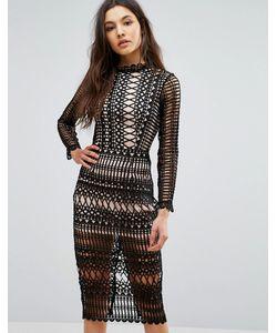Club L | Кружевное Облегающее Платье