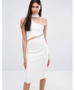 MISSGUIDED | Платье Миди С Асимметричной Горловиной