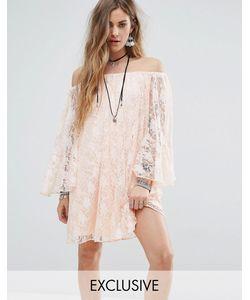 Reclaimed Vintage | Кружевное Свободное Платье С Открытыми Плечами Inspired