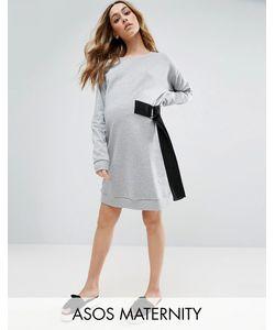 ASOS Maternity | Платье-Свитшот Мини С D-Образным Кольцом На Завязке