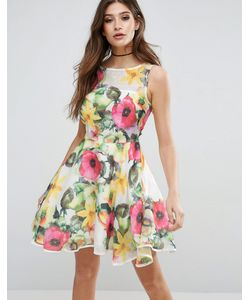 AX Paris | Короткое Приталенное Платье С Цветочным Принтом