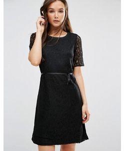b.young | Цельнокройное Платье С Короткими Рукавами