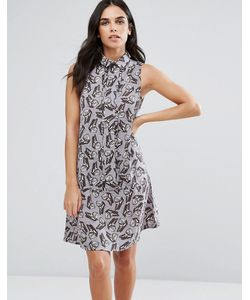 Vesper | Свободное Платье-Рубашка С Бабочками