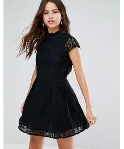 Louche | Кружевное Платье С Высоким Воротом Nichole