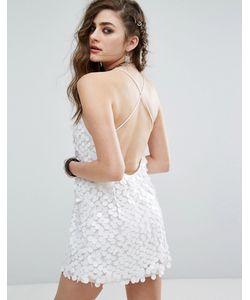 Motel | Платье-Майка С Завязками Накрест На Спине И Отделкой Пайетками