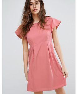 Vero Moda | Платье С Оборками Оттенка Пыльной Розы Emma