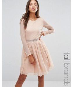 Y.A.S Tall | Платье С Длинными Рукавами И Кружевной Вставкой