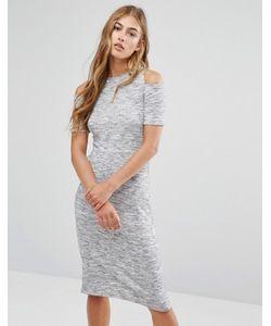 Pimkie   Облегающее Платье Миди С Вырезами На Плечах
