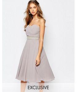 TFNC | Платье Для Выпускного С Запахом И Отделкой Wedding
