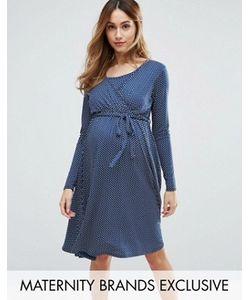 Bluebelle Maternity | Платье В Горошек С Запахом Nursing