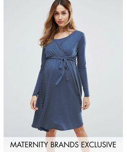 Bluebelle Maternity | Nursing Polka Dot Wrap Dress