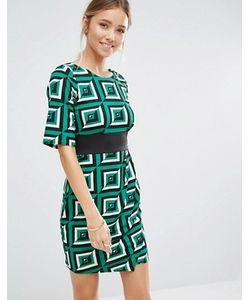Closet London | Платье С Геометрическим Принтом И Отделкой Closet