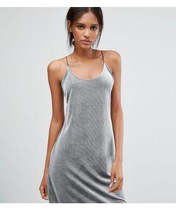Vero Moda Tall | Бархатное Платье В Рубчик На Бретельках