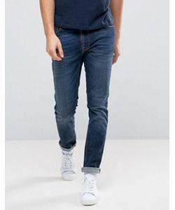 Nudie Jeans Co | Темно Выбеленные Джинсы Lean Dean