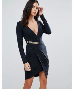Jessica Wright | Платье С Длинными Рукавами И Запахом