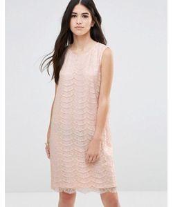 Traffic People | Цельнокройное Платье Из Кружева Металлик С Вырезом Капелькой Сзади