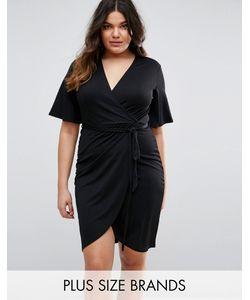 Club L Plus | Платье С Запахом И Завязкой На Талии