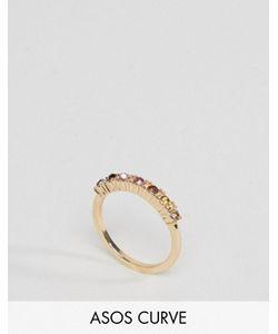 ASOS CURVE | Кольцо С Разноцветными Камнями