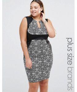 Praslin | Платье-Футляр С V-Образным Вырезом И Контрастным Поясом Plus