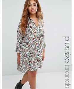 Koko | Платье-Рубашка Со Складками Сзади Plus